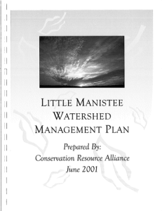 2001 Little Manistee River Watershed Management Plan