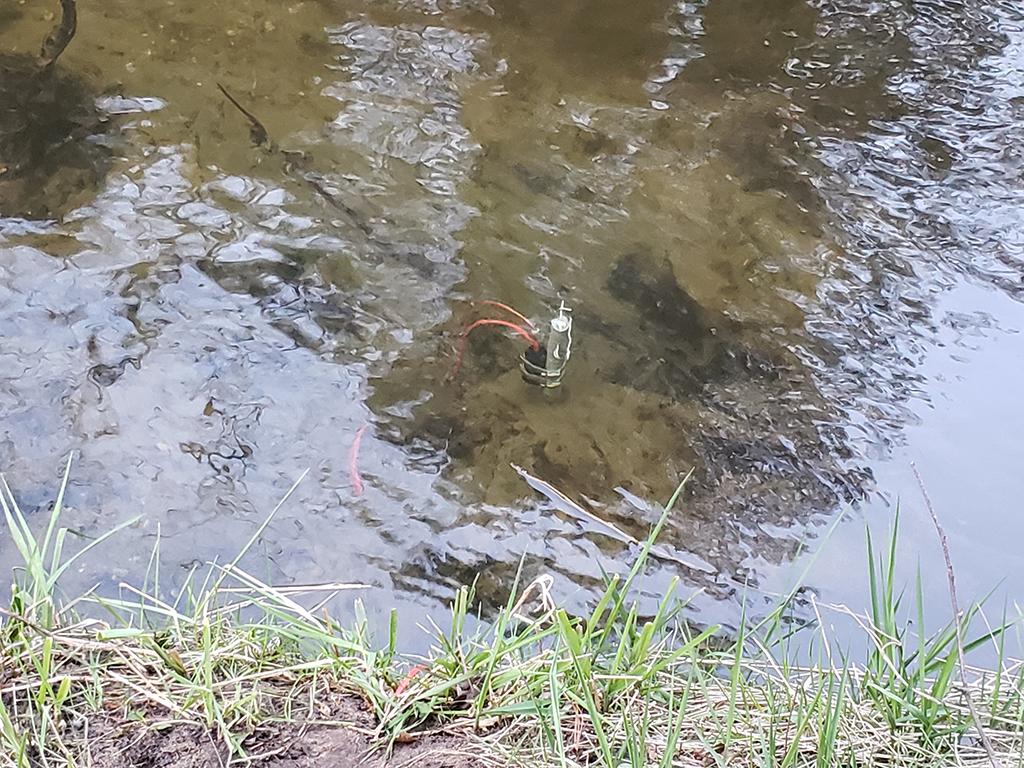 sensor in the river